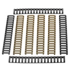 Universal 21mm Ladder Rail Covers Protectors Handguards Set for Gun - Black + Sand Color