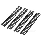 21mm Ladder Rail Covers Protectors Set for Gun - Black + Sand Color