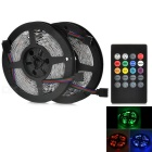 JRLED 48W 300-5050 SMD LED Light Strips RGB 4500lm w/ 20-Key Music LED Controller (DC 12V / 2PCS)
