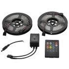 JRLED 48W tira de la lámpara de 300 LED RGB 4500lm con el regulador de la música LED (2PCS)