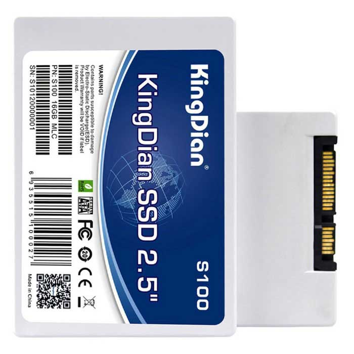 "KingDian S100 16GB Internal 2.5"" SATA 2 SSD Solid State Drive - White"