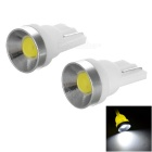 T10 0.5W COB LED Car Backup Light / Signal Lamp Cool White 13485K 25lm (12V / 2pcs)