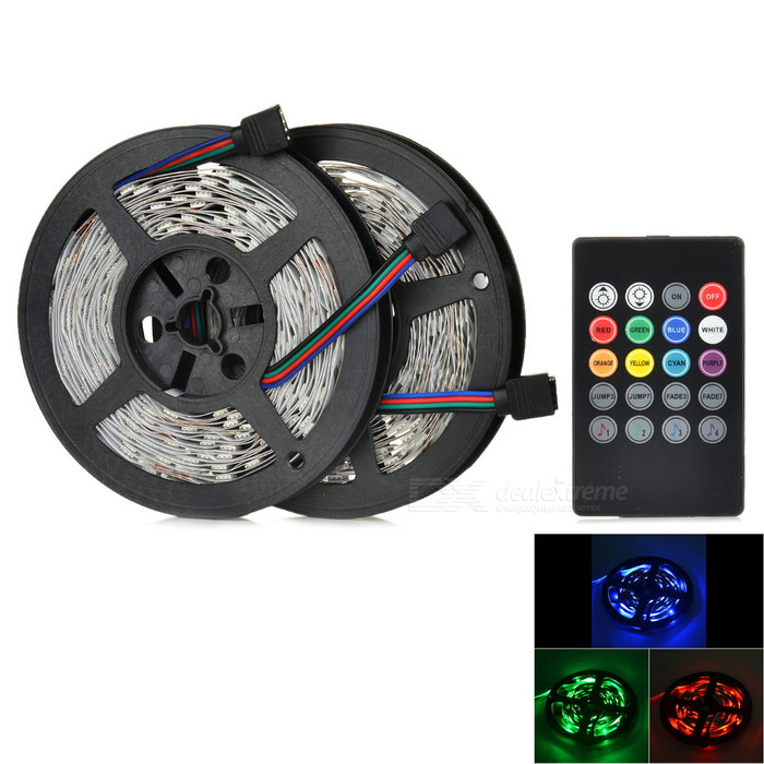 JRLED 60W LED tira ligera RGB 300-SMD 5050 con el regulador (enchufe de la UE)