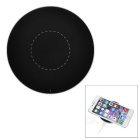 Ultra-thin Round Shaped Qi Wireless Charger for IPHONE / Samsung + More - Black + Silver