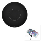 Ultra-thin Round Shaped Qi Wireless Charger for IPHONE / Samsung + More - Black