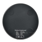 Ultra-thin Round Qi Wireless Charger for IPHONE + More - Black
