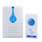 501D 32-Melody Wireless Remote Control Transmitter + Receiver Doorbell Set - White + Blue
