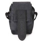 CADEN M0 Universal Canvas Single-Shoulder Camera Bag - Black Grey