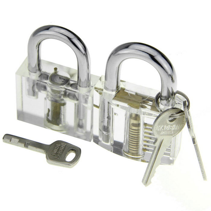 Transparent Skill Training Practice Padlock Set (2PCS)
