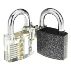 Skill Training Practice Lock / Padlock Set - Silver + Black (2PCS)