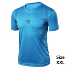 Men's Outdoor Breathable Quick-Drying Short-Sleeved T-Shirt Jersey - Blue