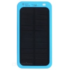 "S-what Matte USB 3.7V ""5000mAh"" Li-polymer Battery Solar Power Bank - Blue + Black"