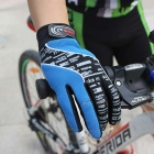 MOke Anti-Shock Touch-Screen Full-Finger Cycling Gloves - Blue (XL)