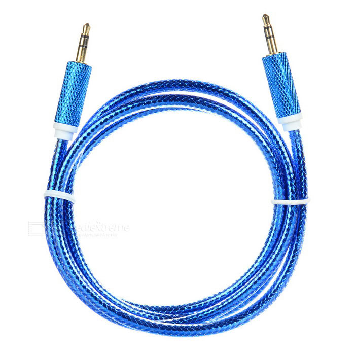 Universal 3.5mm Male to Male Audio AUX Cable - Blue (100cm)