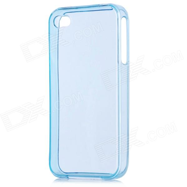 Protective Crystal Silicone Case for Iphone 4 - Blue