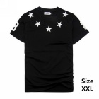 Men's Stars Pattern Cotton Short-Sleeve T-Shirt Tee - Black