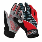 MOke Outdoor Sports Anti-Shock Touch-Screen Full-Finger Cycling Gloves - Red + Black (XL / Pair)