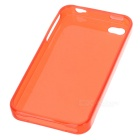 Protective Crystal Silicone Case for Iphone 4 - Red