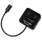 USB3.1 Type-C COMBO HUB + Card Reader - Black