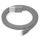 YellowKnife Flat Lightning 8-Pin USB Charging / Data Sync Cable for IPHONE / IPAD (1.5m) - Grey