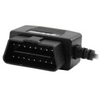 OBD2 ao micro cabo de carregamento do USB para gps do carro, dvr, telefone - preto (4m)