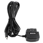 OBD2 to Mini USB Charging Cable for Car GPS, DVR, Phone - Black (4m)