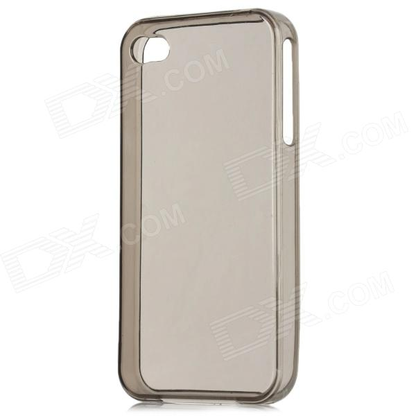 Protective Crystal Silicone Case for Iphone 4 - Translucent Black protective silicone case for nds lite translucent white