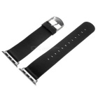 Micro Fiber Watch Band w/ Attachments for APPLE WATCH 38mm - Black