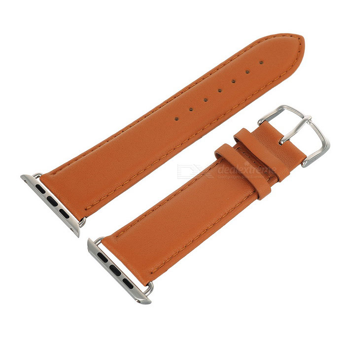Leather Watchband w/ Attachment for APPLE WATCH 42mm - Earthy Yellow