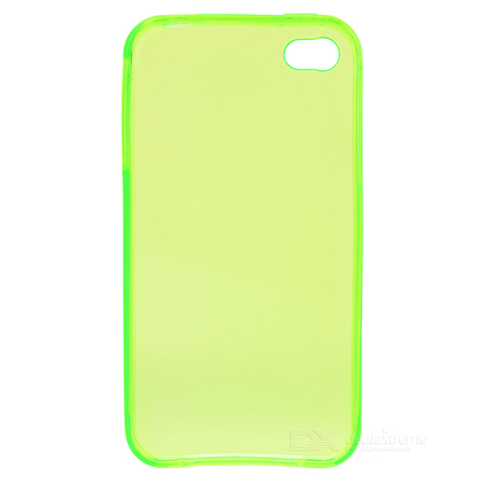 Protective Crystal Silicone Case for Iphone 4 - Green