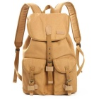 CADeN F15 Canvas Camera Storage Backpack - Khaki
