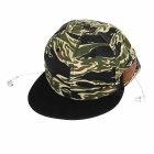 Cwxuan Outdoor Sports Baseball Hat w/ Bluetooth V3.0 + EDR In-Ear Earphone w/ Mic - Camouflage