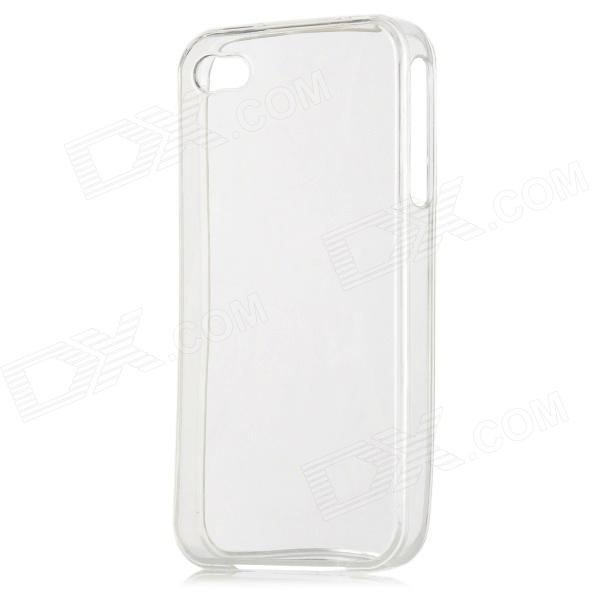 Protective Crystal Silicone Case for Iphone 4 - White