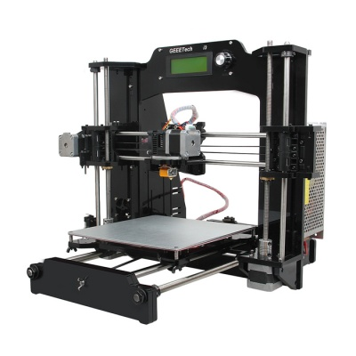 Geeetech Acrylic Prusa I3*3D Printers (1.75mm Filament/0.3mm Nozzle)