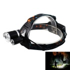 KINFIRE T6 XM-L 4-Mode 1600lm Cool White 3-LED Night Headlamp w/ US Plug Charger (2 x 18650)