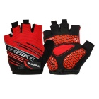 INBIKE Summer / Spring Cycling Half Finger Gloves - Red (Size L / Pair)