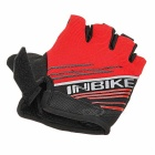 INBIKE Anti-Shock Breathable Half-Finger Gloves - Red (L)