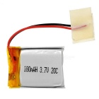 3.7V 180mAh 20C Small Li-polymer Battery for Model Car / Ship / Airplane - Silver + Red + Multicolor