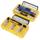 Kaisi K-P3021B CRV 21-in-1 Screwdriver Dismantling Tool Set for APPLE Series - Blue + Yellow