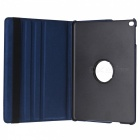 Protective PU Case Cover w/ Auto Sleep, Stand for IPAD AIR - Dark Blue