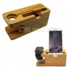 Charging Dock Station Bamboo Holder for APPLE Watch / IPHONE - Bamboo Color