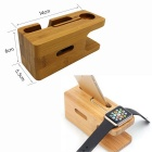 Charging Dock Station Bamboo Holder for APPLE Watch, IPHONE - Bamboo