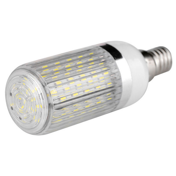 E14 12W Highlight 120-SMD LED Corn Light White 6000K w/ Striped Cover