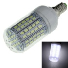 E14 9W LED Corn Bulb Lamp White Light 6500K 1200lm 96-SMD 5730 - White + Yellow (AC 220~240V)