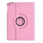 360' Rotating PU + ABS Case w/ Stand / Auto Sleep for IPAD AIR - Pink