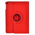 360' Rotating PU Case w/ Stand / Auto Sleep for IPAD AIR 2 - Red