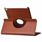 360' Rotating PU Case w/ Stand / Auto Sleep for IPAD AIR 2 - Brown