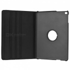 360' Rotating PU + ABS Case w/ Stand / Auto Sleep for IPAD AIR - Black