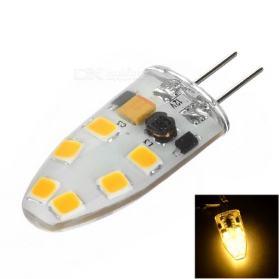 G4 1.5W Dimmable 12-LED Light Warm White 3500K 130lm SMD 2835 (DC 12V)