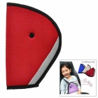 Car Safety Belt Fixing Shoulder Pad Adjuster for Kids - Red